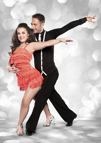 Dani Harmer and Vincent Simone Strictly Come Dancing