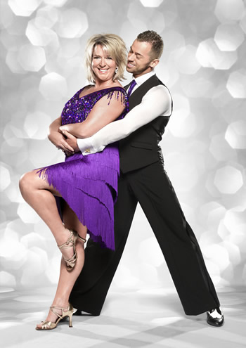 Fern Britton and  Artem Chigvintsev Strictly Come Dancing