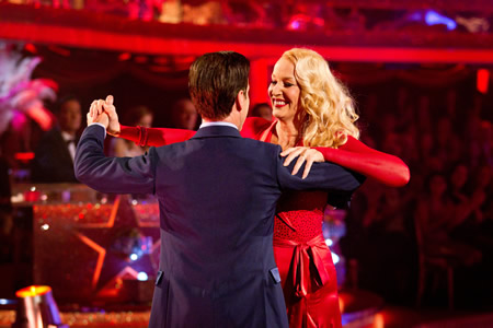 Jerry Hall Anton du Beke in dance off Strictly Come Dancing 2012 Week 3