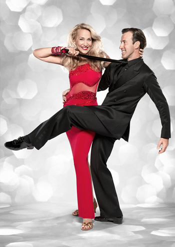 Jerry Hall and  Anton du Beke Strictly Come Dancing