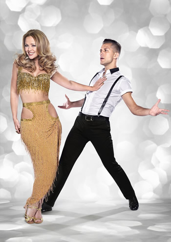 Kimberley Walsh and Pasha Kovalev Strictly Come Dancing