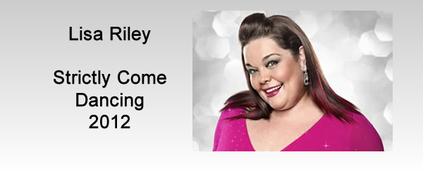 Lisa Riley BBC Strictly Come Dancing 2012