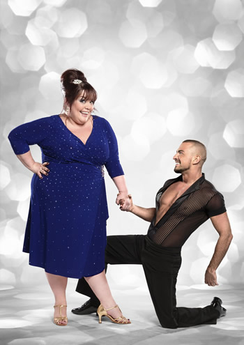 Lisa Riley and  Robin Windsor Strictly Come Dancing