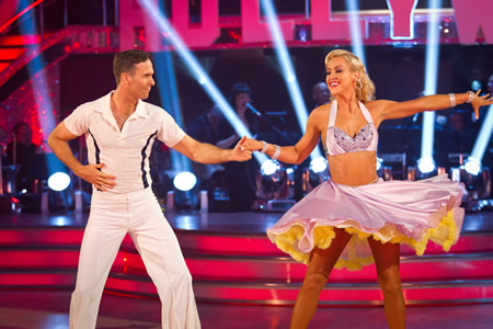 Michael Vaughan Natalie Lowe in dance off Strictly Come Dancing 2012 Week 3