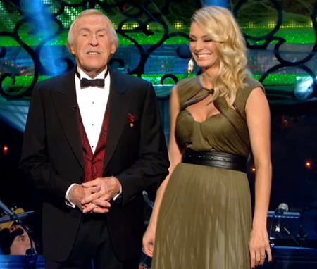 Tess Daly and Bruce Forsyth Strictly Come Dancing Week 4