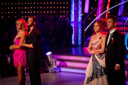 Strictly Come Dancing Week 6 Fern Britton and Kimberley Walsh In Dance Off