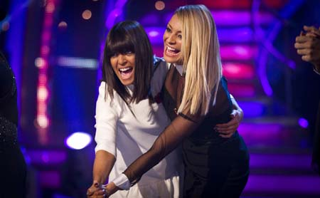 Strictly Come Dancing Week 6 Tess Daly Claudia Winkelman