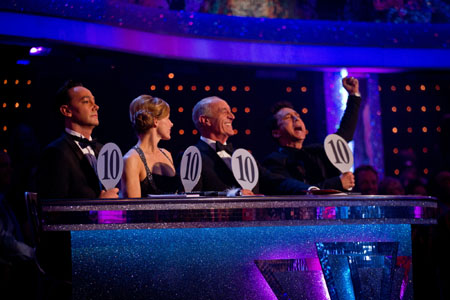 Strictly Come Dancing Perfect Score for Kimberly Walsh from Craig Revel Horwood Darcey Bussell Len Goodman Bruno Tonioli