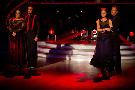 Strictly Come Dancing The bottom two couples Week 11 Lisa Riley Robin Windsor Denise Van Outen James Jordan