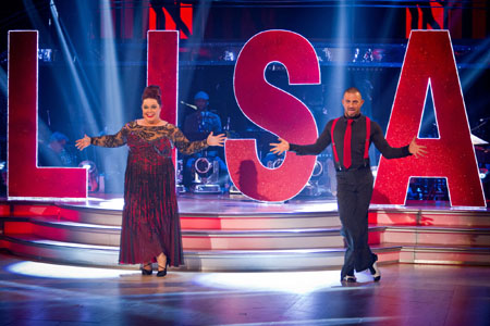 Lisa Riley and Robin Windsor - BBC Strictly Come Dancing 2012 Week 11