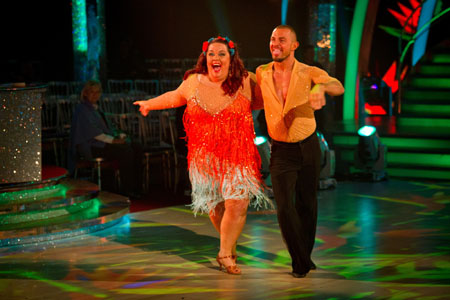 Lisa Riley Robin Windsor - BBC Strictly Come Dancing 2012 Week 11