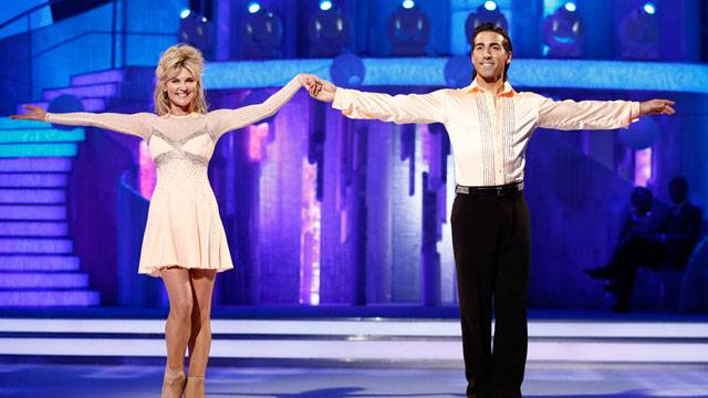 Anthea Turner and Andrew Buchanan Dancing On Ice 2013