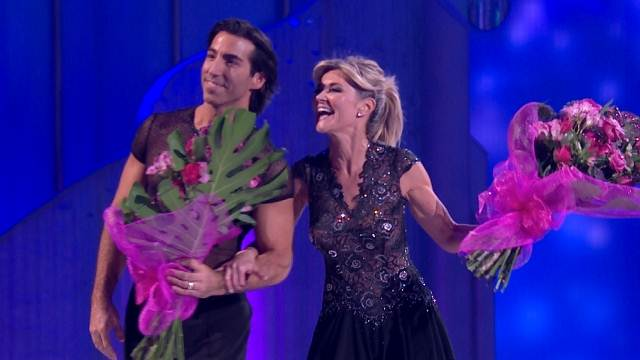Anthea Turner and her partner Andrew Buchanan leave Dancing On Ice in Week 4 (Image courtesy of ITV)