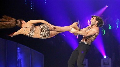 Samia Ghadie and Sylvain Longchambon Headbanger Dancing On Ice Week 4