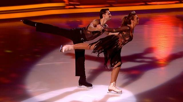 Lauren Goodger and Michael Zenezini Dancing On Ice 2013