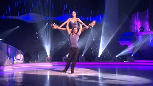 Beth Tweddle and Daniel Whiston in week 6 of Dancing On Ice