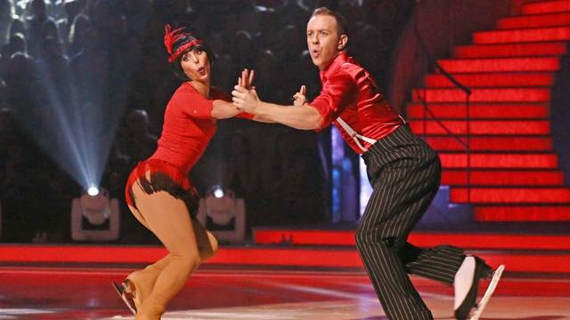 Beth Tweddle and Daniel Whiston perform in week 7 of Dancing On Ice
