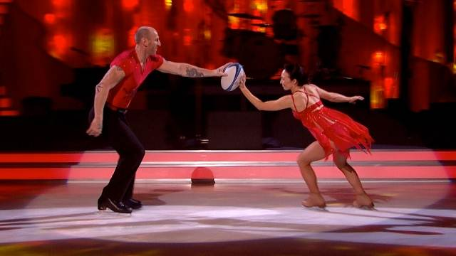 Gareth Thomas and Robin Johnstone perform in week 8 of Dancing On Ice