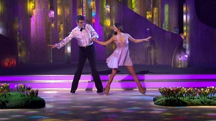 Joe Pasquale and Vicky Ogden perform in week 6 of Dancing On Ice
