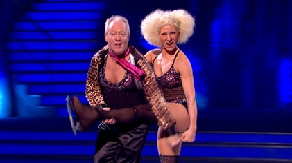 Keith Chegwin and Olga Sharutenko perform in week 7 of Dancing On Ice