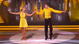 Luke Campbell and Jenna Smith in week 6 of Dancing On Ice