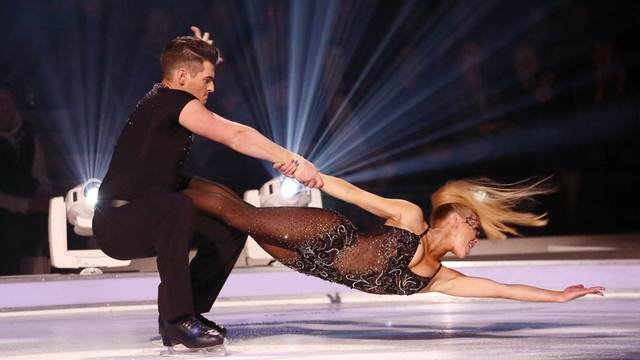 Matt Lapinskas and Brianne Delcourt perform in Week 7 of Dancing On Ice
