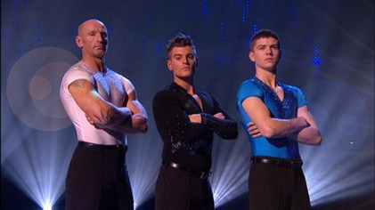 Team Matt ready for the Team Challenge of Dancing On Ice Week 7 (Image courtesy of ITV)