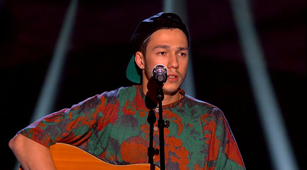 Danny County performs on The Voice 2