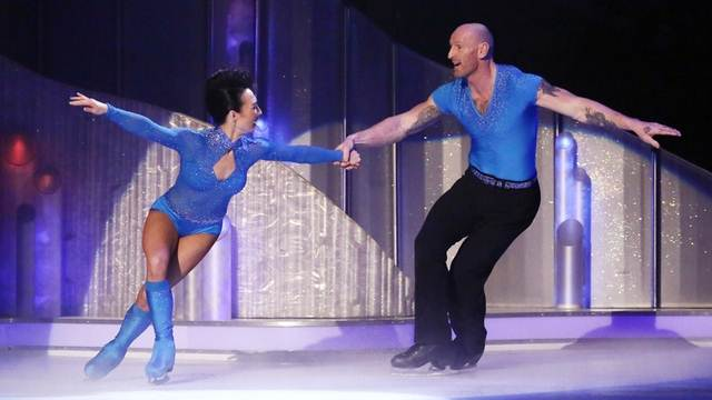 Gareth Thomas and Robin Johnstone perform their first routine in the semi-final of Dancing On Ice