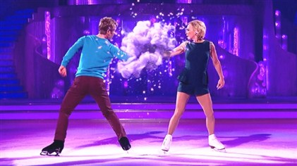 Jayne Torvill and Christopher Dean bring a dance explosion to the semi final of Dancing On Ice