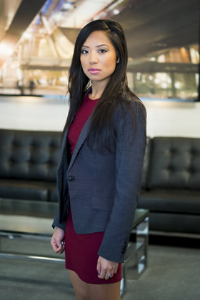 Sophie Lau appears in The Apprentice 2013