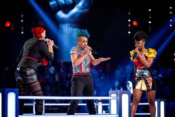 Cleo Higgins v Nu-Tarna in battle on The Voice in week 7