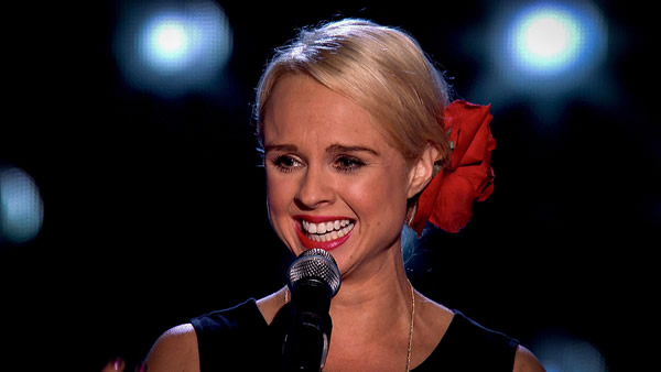 Gemma Louise Edwards performs on The Voice 2013