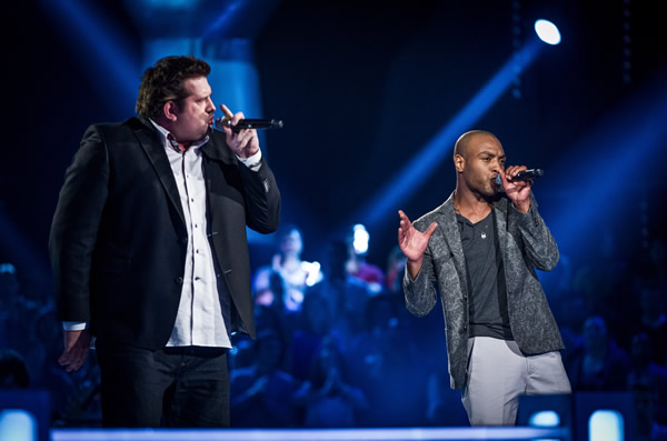 Jamie Bruce v LB Robinson in battle on The Voice in week 7