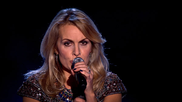 Jay Aston performs on The Voice 2013
