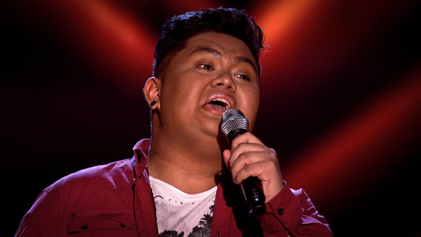 Joseph Apostol performs on The Voice 2013