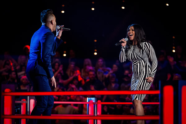 Nate James v Lovelle Hill in battle on The Voice in week 7