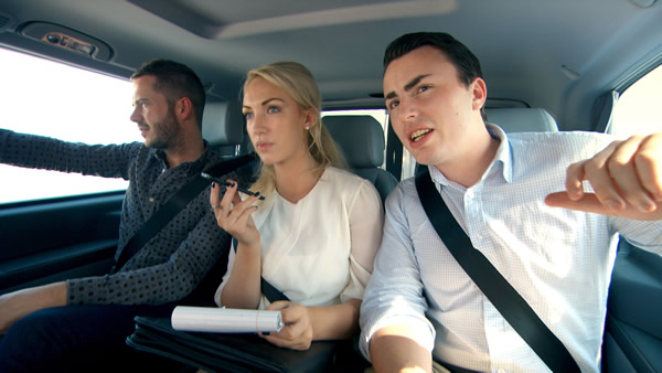 Neil Clough, Leah Totton and Alex Mills hunting for items in Dubai - The Apprentice 2013 Episode 5
