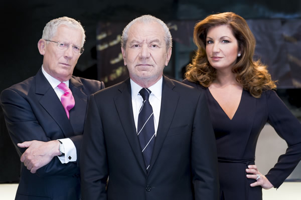 Nick Hewer, Lord Alan Sugar, Karren Brady In The Apprentice 2013 Series 9
