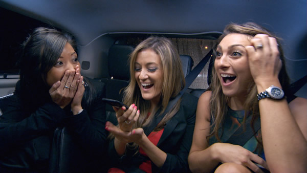 Sophie Lau, Natalie Panayi and Luisa Zissman enjoying some good news in The Apprentice 2013  Episode 3