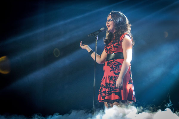 Andrea Begley performs in the final of The Voice
