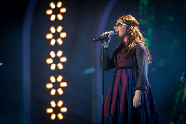 Andrea Begley performs in the semi final of The Voice 2013