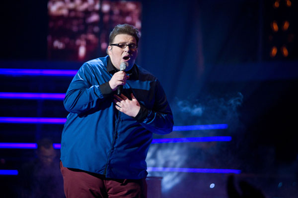 Ash Morgan performs in the quarter finals of The Voice 2013