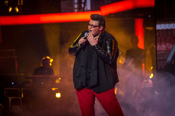 Ash Morgan performs in the semi final of The Voice 2013