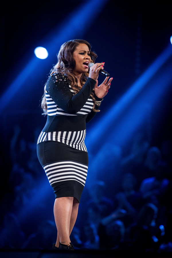 Cherelle Basquine performs on The Voice 2013 in the Knockouts