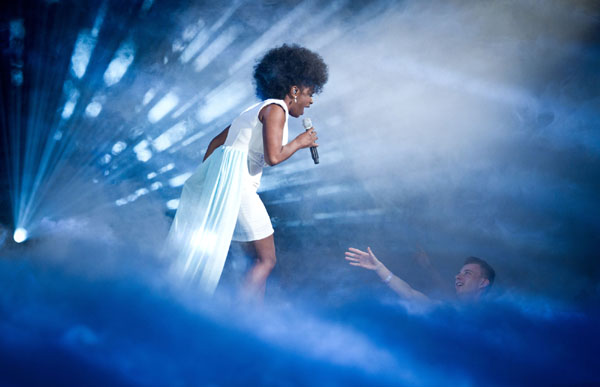 Cleo Higgins performs in the quarter finals of The Voice 2013