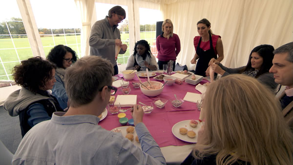 Francesca MacDuff-Varley and Luisa Zissman entertain corporate clients on their away day, The Apprentice 2013 episode 6