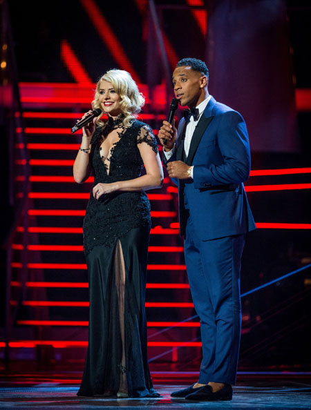Holly Willoughby and Reggie Yates in The Voice Series 2