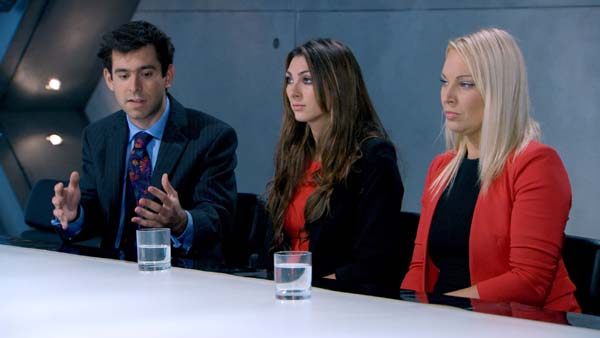 Jason Leech Luisa Zissman and Francesca MacDuff Varley battle it out in the boardroom in Episode 8 of The Apprentice