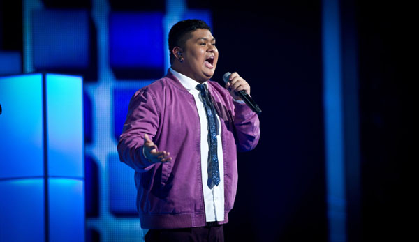 Joseph Apostol performs in the quarter finals of The Voice 2013